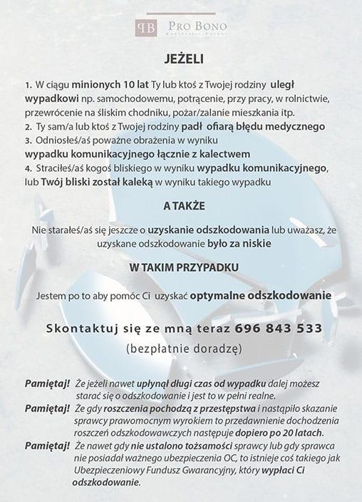 Pro Bono - Ulotka DL (przód) - SEOSki