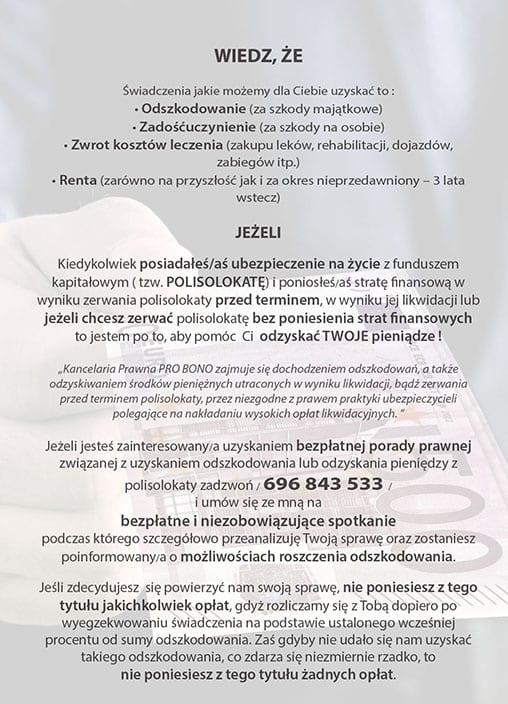 Pro Bono - Ulotka DL (tył) - SEOSki