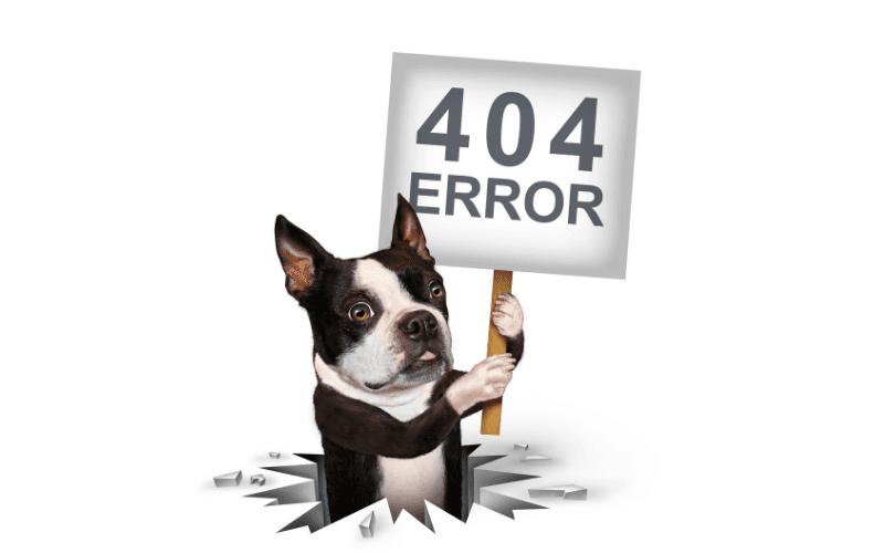 Błąd 404 - humorystyczna strona.