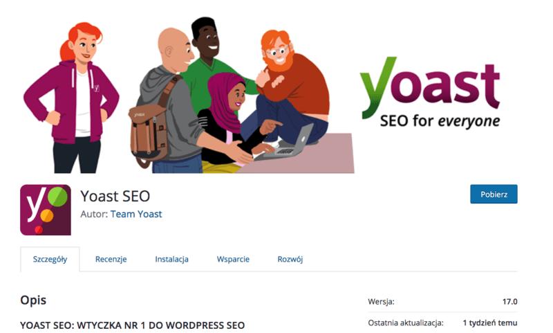 Yoast SEO - strona pobierania.